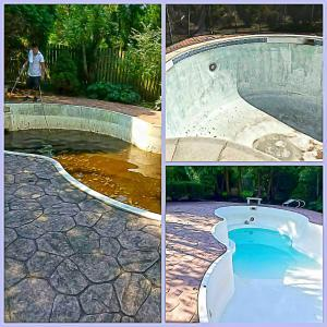 Before and After Pool Cleaning